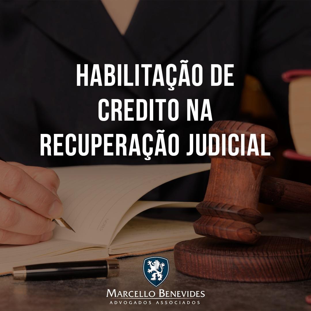 habilitacao de credito recuperacao judicial