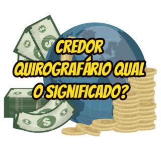 credor quirografário